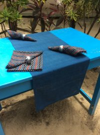 Natural Dyed - Table Runner - 6421177 and Napkin - 6415234