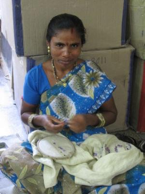 Sahodhara embroiderer extraordinaire!