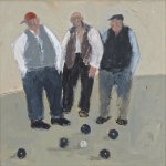 Bowlers       Acrylic       250mm x 250mm