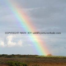 Rainbow over Titchwell Marsh