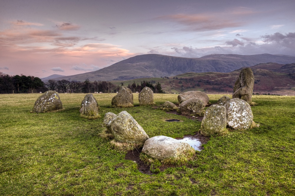 Clough Head & Great Dodd From Castlerigg Stone Circle