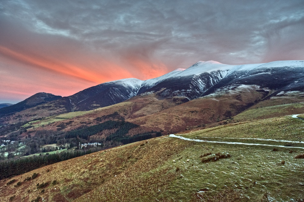 Sunrise Over Skiddaw From Latrigg
