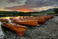 Sunset At Derwentwater Launch