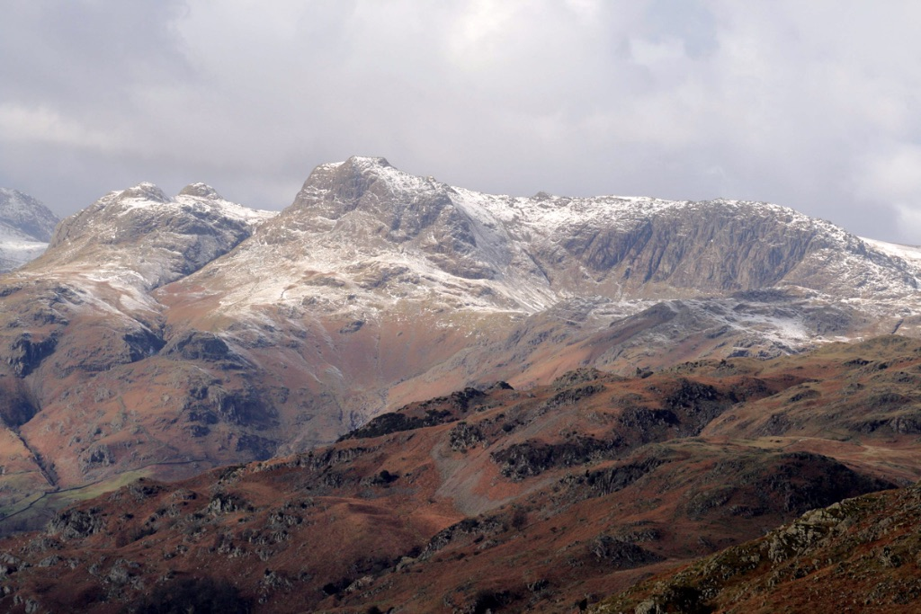 The Langdales from Loughrigg