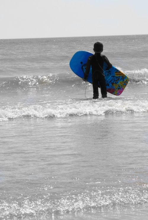 Boy with Bodyboard