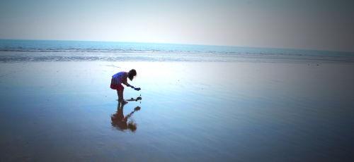 Child on Bridlington Beach