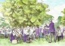 Beckenham Concert Band play at Alexandra Recreation Ground, Penge.