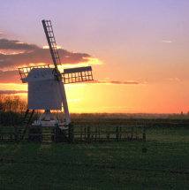 Sunset over the Windmill at Bodicote