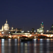 St Paul's Cathedral, the Gherkin & Blackfriars Bridge from the South Bank