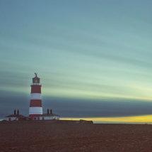 Sun Down behind Happisburgh Lighthouse