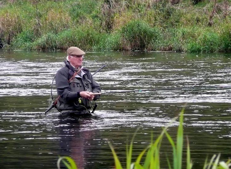 Mike salmon fishing