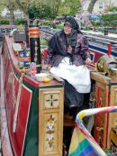Little Venice Canal Festival - Canal Basin - Boat & Lady in Traditional Costume