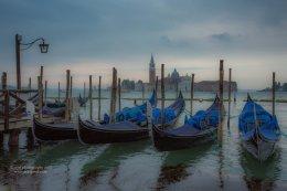 Morning Gondolas and San Giorgio Maggiore