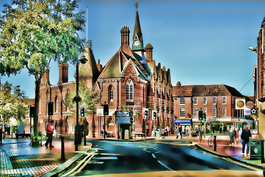 Wokingham Market Place, Berkshire