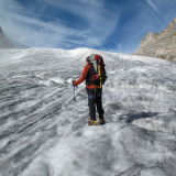 Paul Russell on glacier - Alps