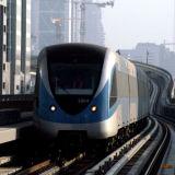 Dubai Metro test train