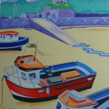 Tenby Harbour with boats