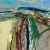 Path to Bignor 56x56cm Oil on Board 2011 Estate of Peter Iden #11