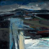 Blue Night Landscape 60x60cm Oil on Board 2011 Estate of Peter Iden #12