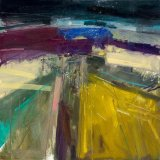 Sussex Abstract 59x59cm 2010 Oil on Board Estate of Peter Iden #14