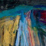 Starry Evening on the Downs 70x61cm 2008 Oil on Board Estate of Peter Iden #17