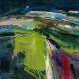Green Sussex Landscape 60x58cm Oil on Board 2007 Estate of Peter Iden #23