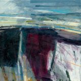 Wintry Landscape South Downs 59x59cm Oil on Board 2010 Estate of Peter Iden #24