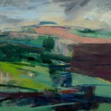Damp Summer Downland 56x56cm 2010 Oil on Board Estate of Peter Iden #31