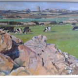 Countryside at Zennor, Cornwall 57x38cm (undated) Estate of Peter Iden #358 Price: £900 SOLD