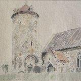 Little Snoring Church, Norfolk Watercolour Estate of Peter Iden #316