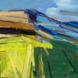 South Downs Summer 2 Oil on Board (2011) 30x30cm Estate of Peter Iden #51
