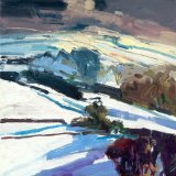 South Downs in Winter 30x30cm (2011) Oil on board Estate of Peter Iden #55
