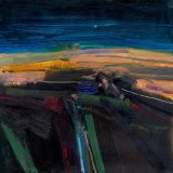 On the Downs after Sundown 30x30cm (2011) Oil on Board Estate of Peter Iden Number 59