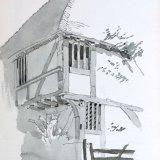 Bayleaf Sketch 25x20cm Pencil and wash Estate of Peter Iden #378