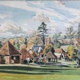 Weald and Downland Open Air Museum 29cmx19cm Watercolour Estate of Peter Iden #324