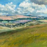 Sussex Landscape near Coombes 49x43cm (2009) Oil on Board Estate of Peter Iden No7 Price: £2000