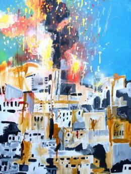 Burning City Gaza Phill Hopkins 2014
