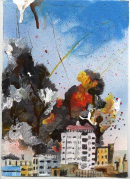 Explosion – White Tower Block (Syria) 2015