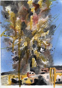 Explosion – Antique Pine (Syria) 2015