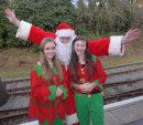 Beth & Leah with Santa