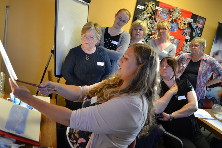 Demonstrating at ArtSeed Watercolour group