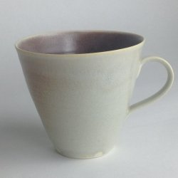 Two colour large cup - Cloud / damson inside £30 incl p&p ( uk mainland)