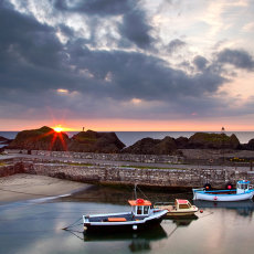 Sunset at Ballintoy Harbour