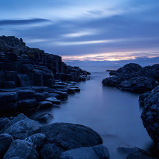 Twilight at Giant's Causeway