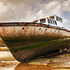 Old Boat in Dundrum Bay