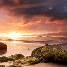 Sunset at Whiterocks Beach