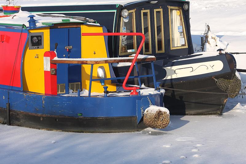 Canal boats, Honey Street