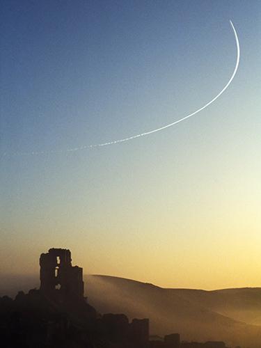 Morning Flight Corfe Castle
