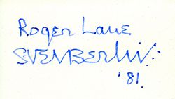 Sven's distinctive signature