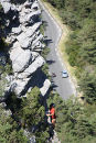 Rock climber, Verdon Gorge, Provence, France